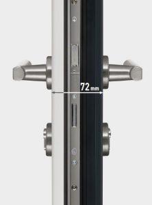 porte entree aluminium systeme ouverture securisee