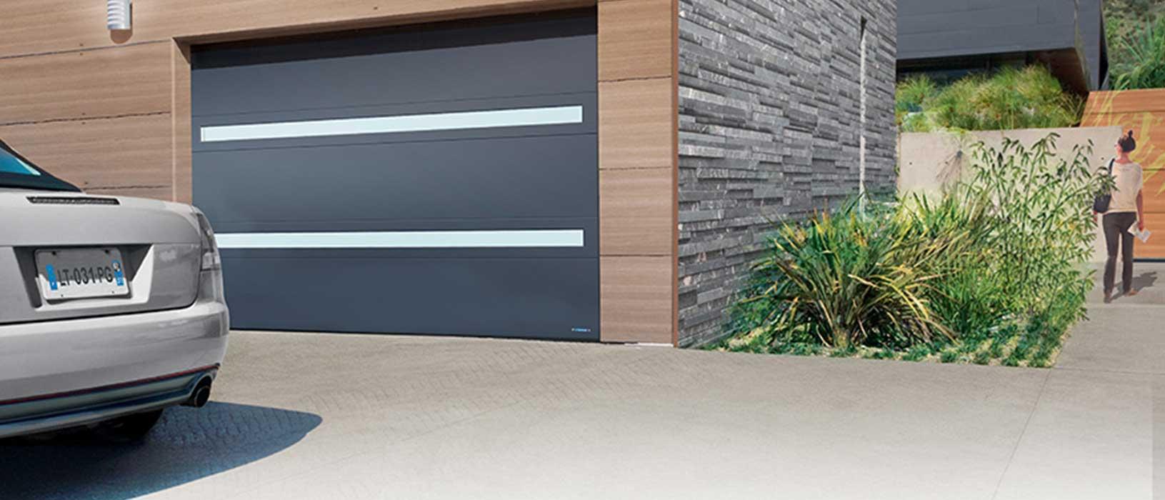 portes de garage basculante habitat moderne fermetures protections lyonnaises. Black Bedroom Furniture Sets. Home Design Ideas